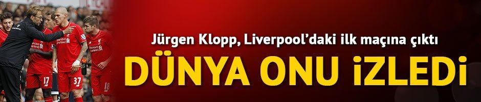 Jürgen Klopp, Liverpool'un başında ilk maçında