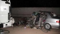 Bingöl'de TIR ile otomobil çarpıştı: 2 ölü, 1 yaralı